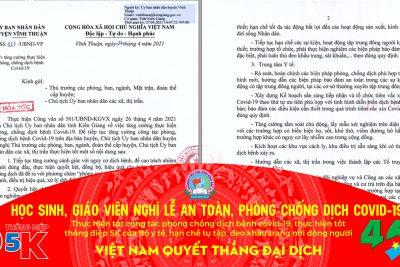 PHÒNG CHỐNG DỊCH COVID TRONG THỜI GIAN NGHỈ LỄ 30/4